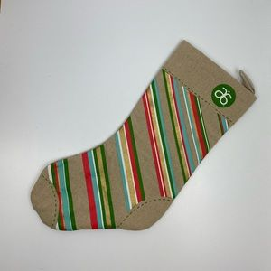 arbonne | striped christmas stocking
